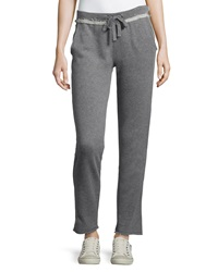 Marc Ny Performance Raw Edge Jogger Pants Heather Gray Orange
