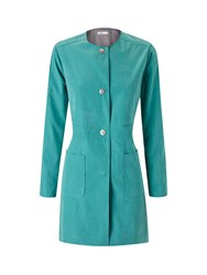 Lavand Collarless Coat Green