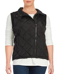 Marc New York Quilted Puffer Vest Black