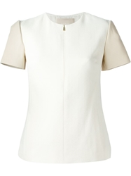 Jason Wu Front Zip Panelled Blouse White