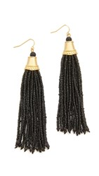 Adia Kibur Amy Earrings Black Gold