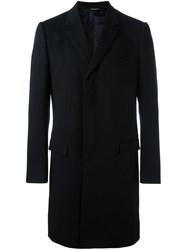 Dolce And Gabbana Single Breasted Coat Blue