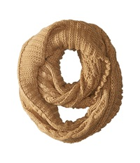 Michael Michael Kors Hand Knit Large Infinity Scarf Dark Camel Scarves Taupe