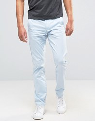 Selected Homme Slim Fit Chino With Leather Belt Sky Way Blue
