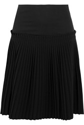 Maison Martin Margiela Pleated Cotton And Crepe Skirt