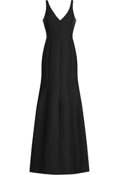 Halston Heritage Cotton Silk Floor Length Gown Black