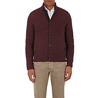 Luciano Barbera Men's Button Front Sweater Red
