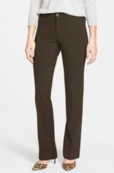 Nydj 'Michelle' Stretch Ponte Trousers Brown
