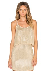 Mlv Paige Sequin Crop Top Metallic Gold