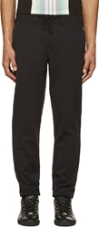 Y 3 Black Cotton Ribbed Classic Lounge Pants