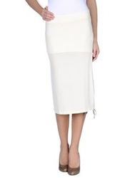 Borbonese 3 4 Length Skirts Ivory