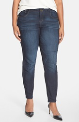 'Super Smooth' Stretch Skinny Jeans Dark Navy Plus Size Nordstrom Exclusive