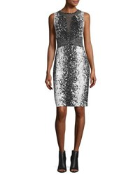 Diane Von Furstenberg Ilsie Mesh Panel Sheath Dress Stella Black Ste