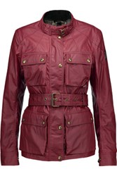 Belstaff Roadmaster Belted Coated Cotton Jacket Burgundy