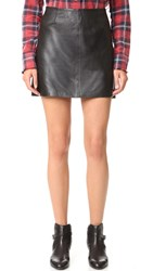 Bb Dakota Brucie Leather Miniskirt Black