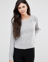Lavand Grey Cable Knit Jumper Gy Grey