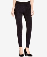 Vince Camuto Two By Faux Suede Ponte Knit Leggings Rich Black
