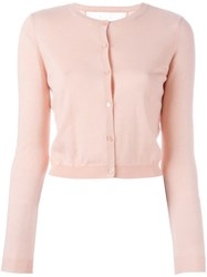 Red Valentino Cropped Cardigan Pink And Purple
