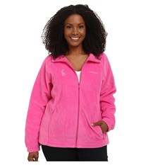 Columbia Plus Size Tested Tough In Pink Benton Springs Full Zip Pink Ice Women's Coat