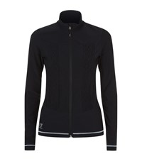 Armani Ea7 Quilted Zip Up Top Female Black