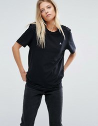 Le Coq Sportif T Shirt With Ribbed Detail Black