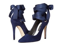 Alice Olivia Dominque Sapphire Suede Ribbon Women's Shoes Blue