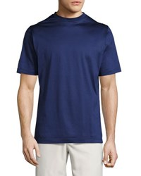 Peter Millar Mercerized Cotton T Shirt Navy