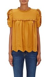 Ulla Johnson Women's Isle Silk Top Yellow