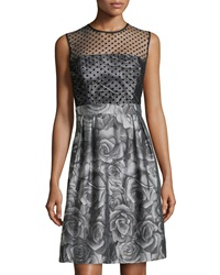 Muse Fit And Flare Cocktail Dress Silver