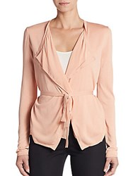 Hugo Boss Belted Silk Trimmed Cardigan Pastel Orange