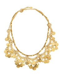 Jose And Maria Barrera Golden Lacy Draped Collar Necklace Women's