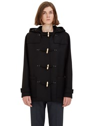 Lanvin Short Wool Duffle Coat Black
