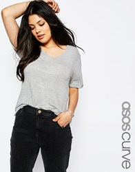 Asos Curve Forever T Shirt Gray