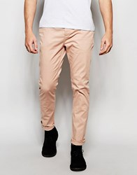 Asos Skinny Chinos In Light Pink Rose Dust