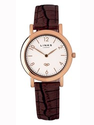Links Of London Noble Slim Brown Leather Watch