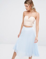 New Look Bustier Crop Top Stone