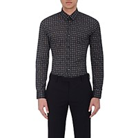 Fendi Men's Monster Cat Print Poplin Shirt No Color