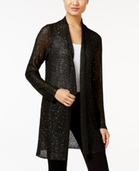 Alfani Petite Sequin Duster Cardigan Only At Macy's Deep Black