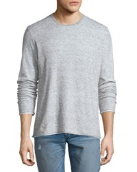 Rag And Bone Tripp Melange Long Sleeve Crewneck Shirt Light Gray Lt Grey Mlng