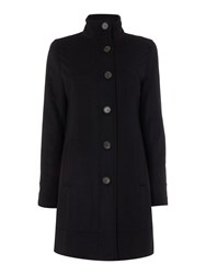 Barbour Kerrera Single Breasted Wool Coat Black