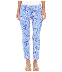 Lilly Pulitzer Kelly Skinny Ankle Pants Multi Tic Tac Tile All Over Women's Casual Pants