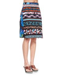 Jean Paul Gaultier Printed Stretch Coverup Skirt