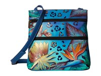 Anuschka 447 Tropical Dream Cross Body Handbags Blue
