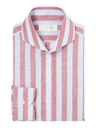 Chester Barrie Contemp Henry Bold Chambray Stripe Blue