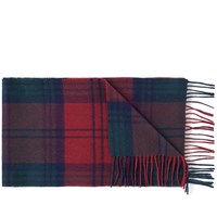 Barbour New Check Tartan Scarf Red