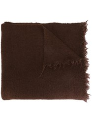 Rick Owens Oversized Scarf Brown