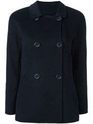 Steffen Schraut Double Breasted Peacoat Blue