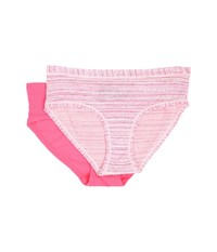 Columbia Micro Mesh Hipster 2 Pack Pink Stripe Neon Pink Women's Underwear Multi