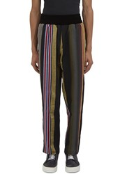 James Long Multicolour Striped Jogger Pants Black