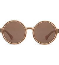 Dries Van Noten Dvn83 Round Sunglasses Orange And Copper